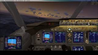 Посадка Авиалайнера Boeing 737 800 c помощью автопилотаЖесткая посадка