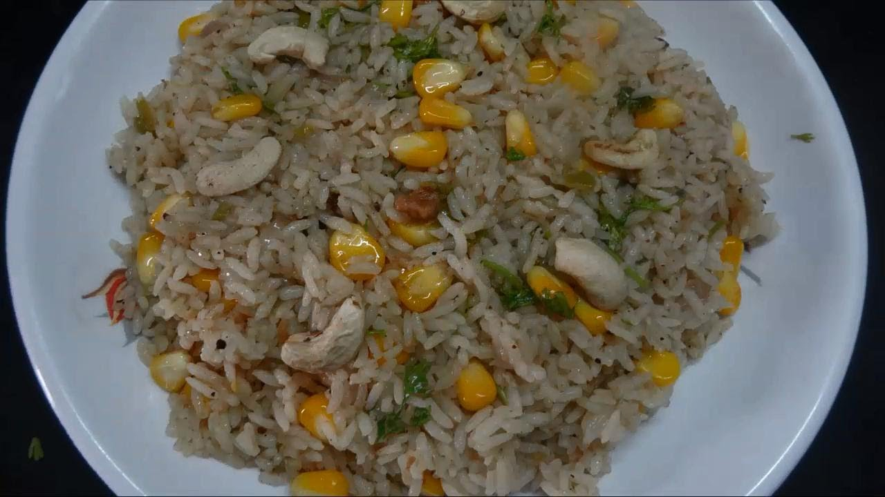 Easy and quick sweet corn pulav preparation in telugu youtube ccuart Choice Image