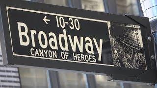 Нью-Йорк. Поездка по Бродвею через весь Манхэттен.