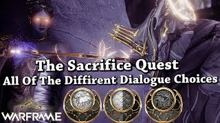 Warframe | The Sacrifice Quest | All Of The Different Dialogue Choices (Sun/Neutral/Moon)