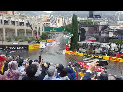 2016 Formula 1 Monaco Grand Prix - Lap 1 - Anthony Noghes - Tribune V