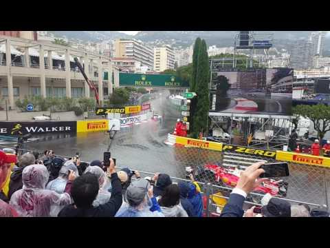 2016 Formula 1 Monaco Grand Prix - Lap 1 - Anthony Noghes - Tribune V