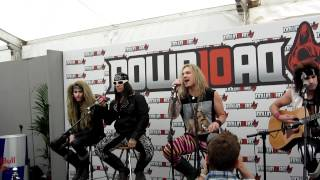 Steel Panther - Acoustic back stage at Download 2012