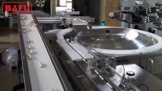 rotary feeding system, chocolate bar packaging, confectionery bar packaging