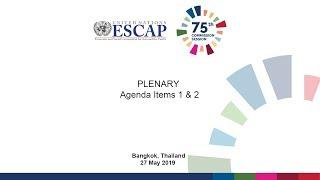 75th Commission : PLENARY - Agenda Item 1 and 2
