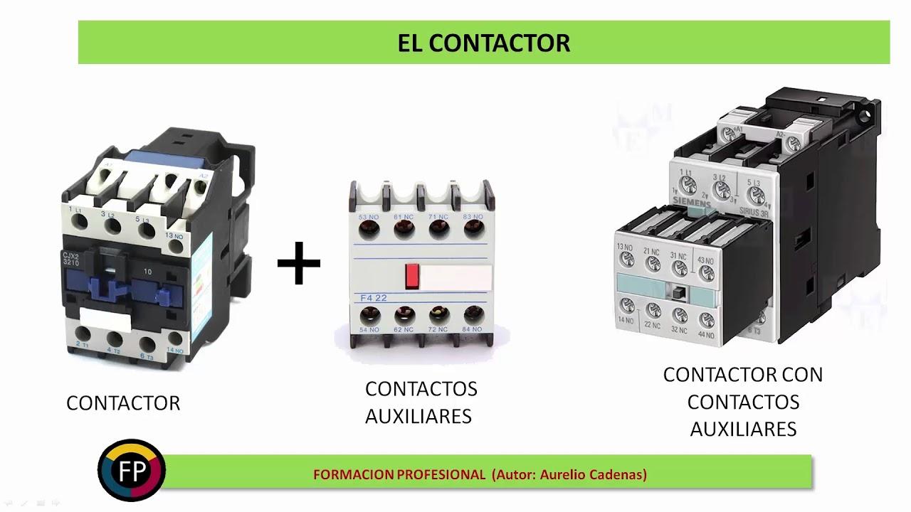 Clase 84 Contactor Constitución Funcionamiento Y Contactos Auxiliares Youtube