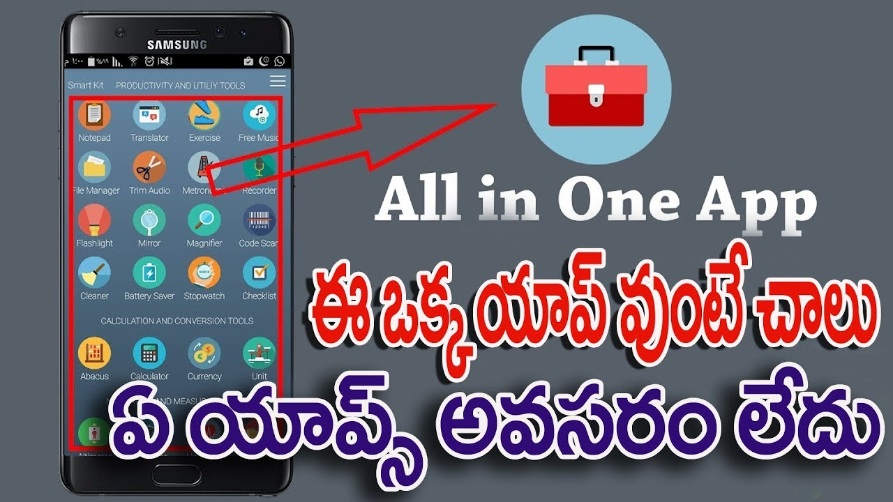 Best All In One Android App 2018   Smart Kit 360 App   32 Apps In One Smart  Kit 360 App   Net india