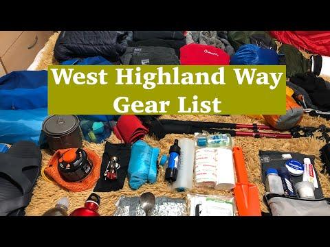 West Highland Way Gear List