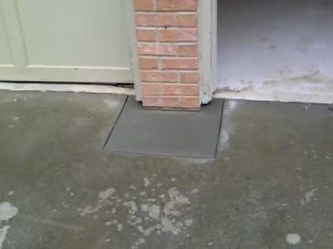 Jacking a brick column on a garage part 4 norcross for Foundation for garage