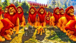 Disney The Lion King - Simba gets into trouble and The wolf saves him