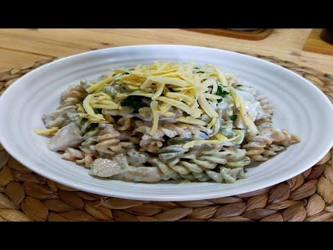 pâtes-au-sauce-champignons-🍄😋-معكرونة-بصوص-الفطر-اللذيذة