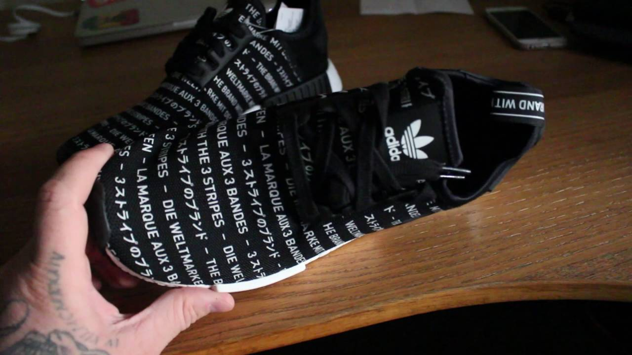 2311cda8bd01e Adidas NMD R1 Blackout Pack Unboxing and Review - YouTube