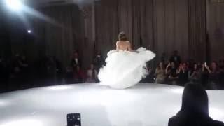Елизавета Боярская в свадебном платье VeraWang