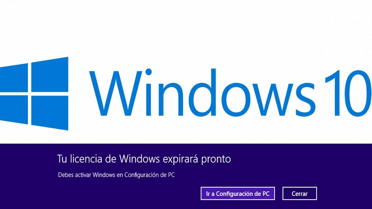 Resultado de imagen para Alertas de licencia pronto a caducar de windows 10