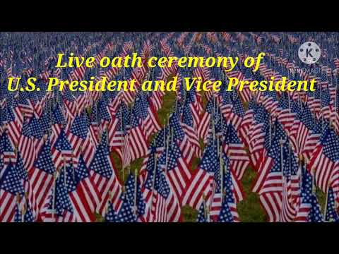 LIVE : Oath ceremony of U.S. President and Vice President.