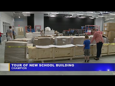 Students, parents of Champion schools get chance to tour new PK-8 building
