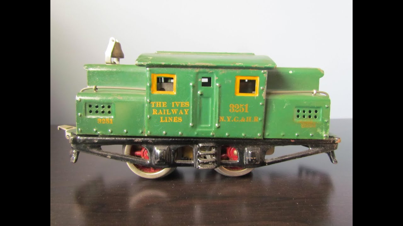 Nycrr Cast Iron Train: Vintage 1925 IVES Toys Electric Locomotive Train Engine