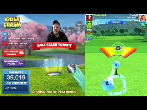 Golf Clash tips, Playthrough, Hole 1-9 - ROOKIE - TOURNAMENT WIND! Tropic Kings Tournament!