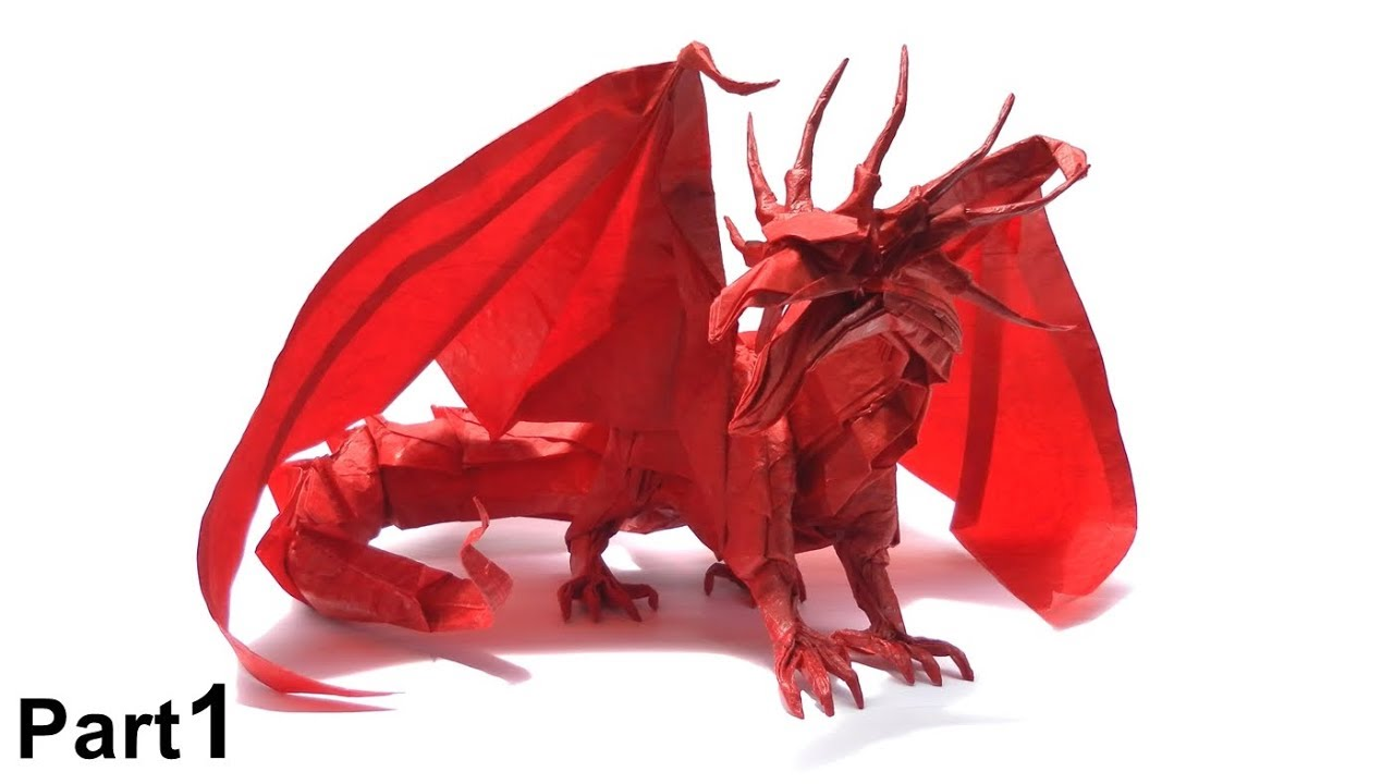 ORIGAMI ANCIENT DRAGON TUTORIAL Satoshi Kamiya PART 1 ALTER DRACHE