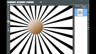 Sun Ray Vector Sunburst in Xara Photo and Graphic Designer