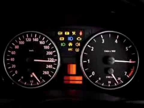 BMW 320i (E90) - Instrument Cluster Test