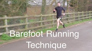 Barefoot running technique tutorial video analysis reviewed in Vibram FiveFingers