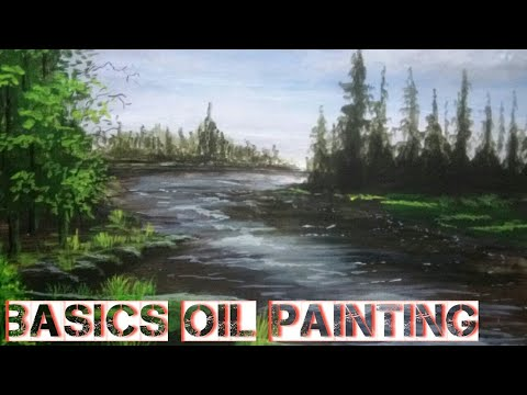 Oil painting technique step by step | art and painting classes for beginners | canvas board painting