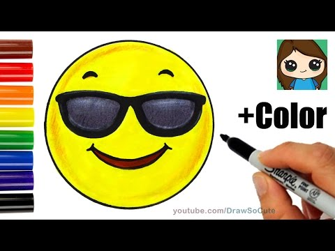 how-to-draw-+-color-a-cool-emoji-easy