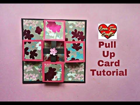 Pull Up Card Tutorial | DIY Greeting Card for Scrapbook
