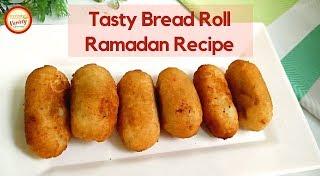 Bread Roll Recipe/ Bread Potato Roll/Potato & Chicken Stuffed Bread Roll-Quick and Easy Snack Recipe