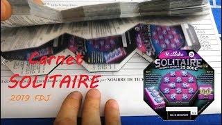 Gratter un Carnet de 150 jeux à gratter SOLITAIRE à 300€ 🍀 Nouveauté FDJ Illiko 🍀
