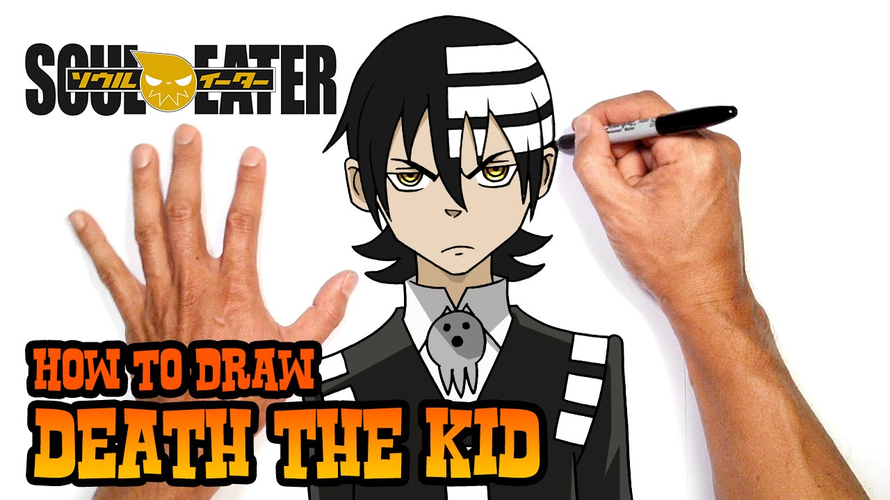 How to Draw Death the Kid | Soul Eater