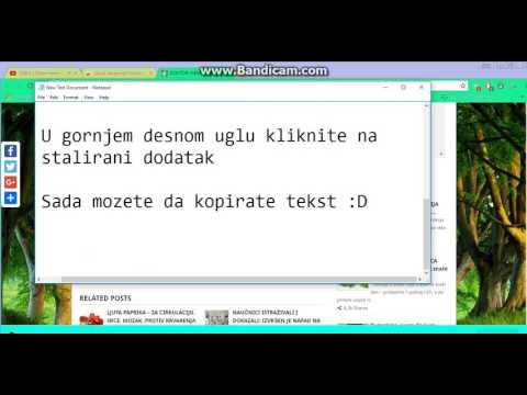 Kako kopirati tekst sa zasticene web stranice