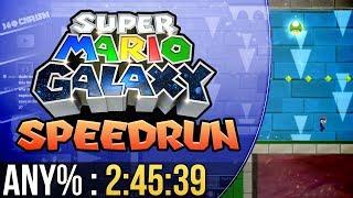 Super Mario Galaxy Any% Speedrun in 2:45:39
