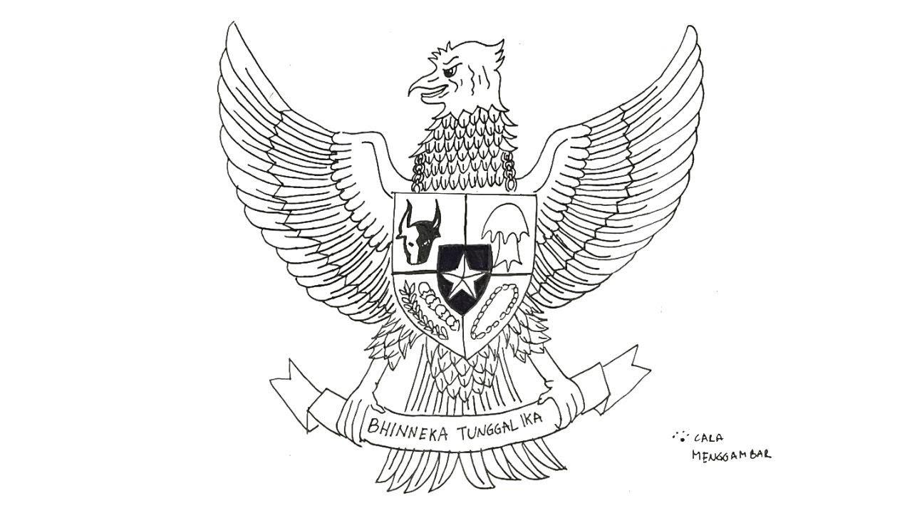 cara menggambar burung garuda pancasila lambang negara indonesia yang bagus dan mudah ep 266 youtube cara menggambar burung garuda pancasila lambang negara indonesia yang bagus dan mudah ep 266