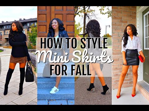 HOW TO STYLE THE MINI SKIRT | 6 Fall Outfit Ideas + Lookbook