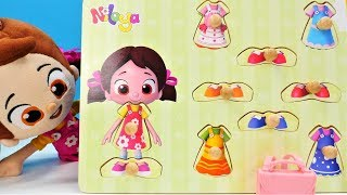 Çocuk oyun videosu. Niloya puzzle ile kıyafet seçiyor