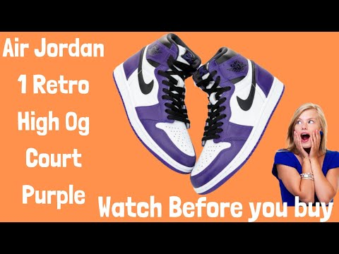 Air Jordan 1 Retro High Og Court Purple 2020 Review Top Sneaker Cheap On Sale At Orderyourshoes8.com