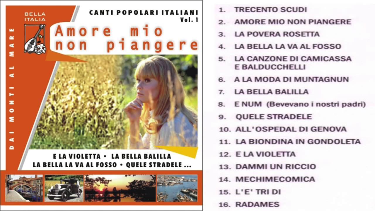 canti italiani popolari