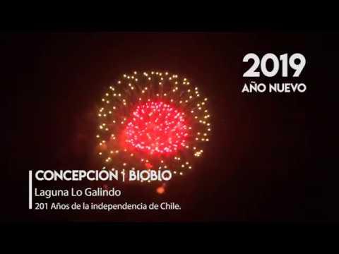 Concepcion Biobio Fuegos Artificiales Ano Nuevo 2019 Youtube