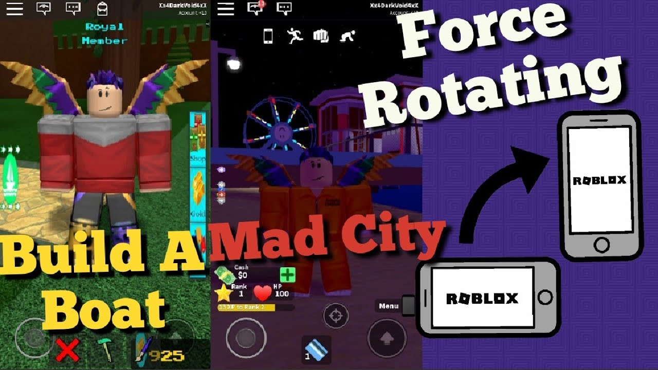 Forcing Roblox to Rotate With an App (Android)