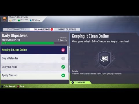 FIFA 18- Ultimate Team: Daily Objectives (Keeping it Clean Online) #493