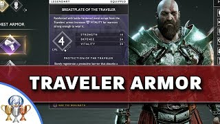 God of War - How to Obtain Traveler's Armor Set - Path of the Zealot Trophy