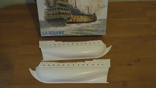 """Распаковка пластиковой модели: """"Линейный корабль Сирена"""" (Моделист / Heller)"""