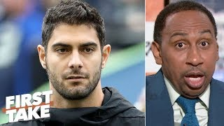 Jimmy Garoppolo is in a world of trouble if he doesn't prove himself - Stephen A. | First Take