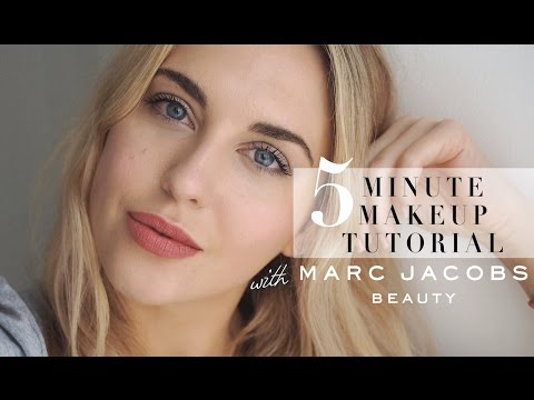 5 MINUTE MAKEUP TUTORIAL WITH MARC JACOBS BEAUTY || STYLE LOBSTER