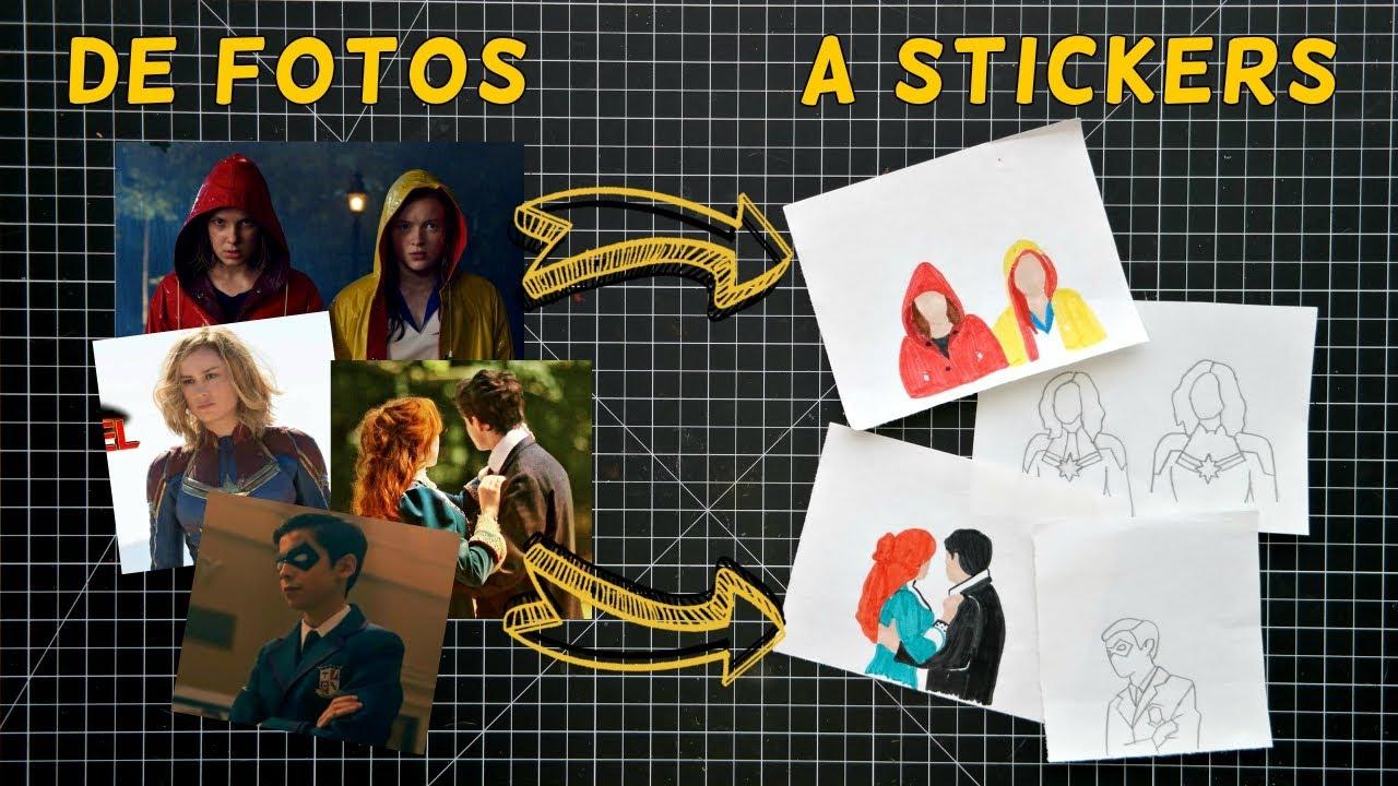 Cómo hacer Stickers Fandom / Convierte Fotos en Caricaturas | Ame Mayén