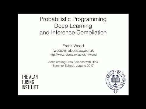 Accelerating Data Science with HPC: Probabilistic Programming, Wood