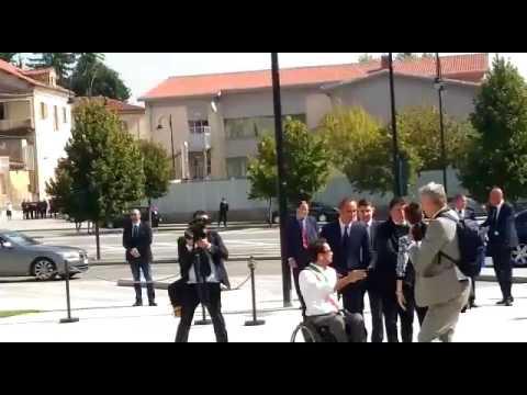 L'arrivo di Matteo Renzi a Mondovì