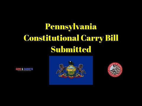 Pennsylvania Constitutional Carry Bill Submitted